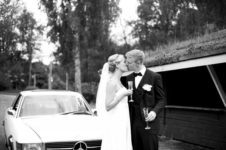 Bröllopsomslag svartvitt